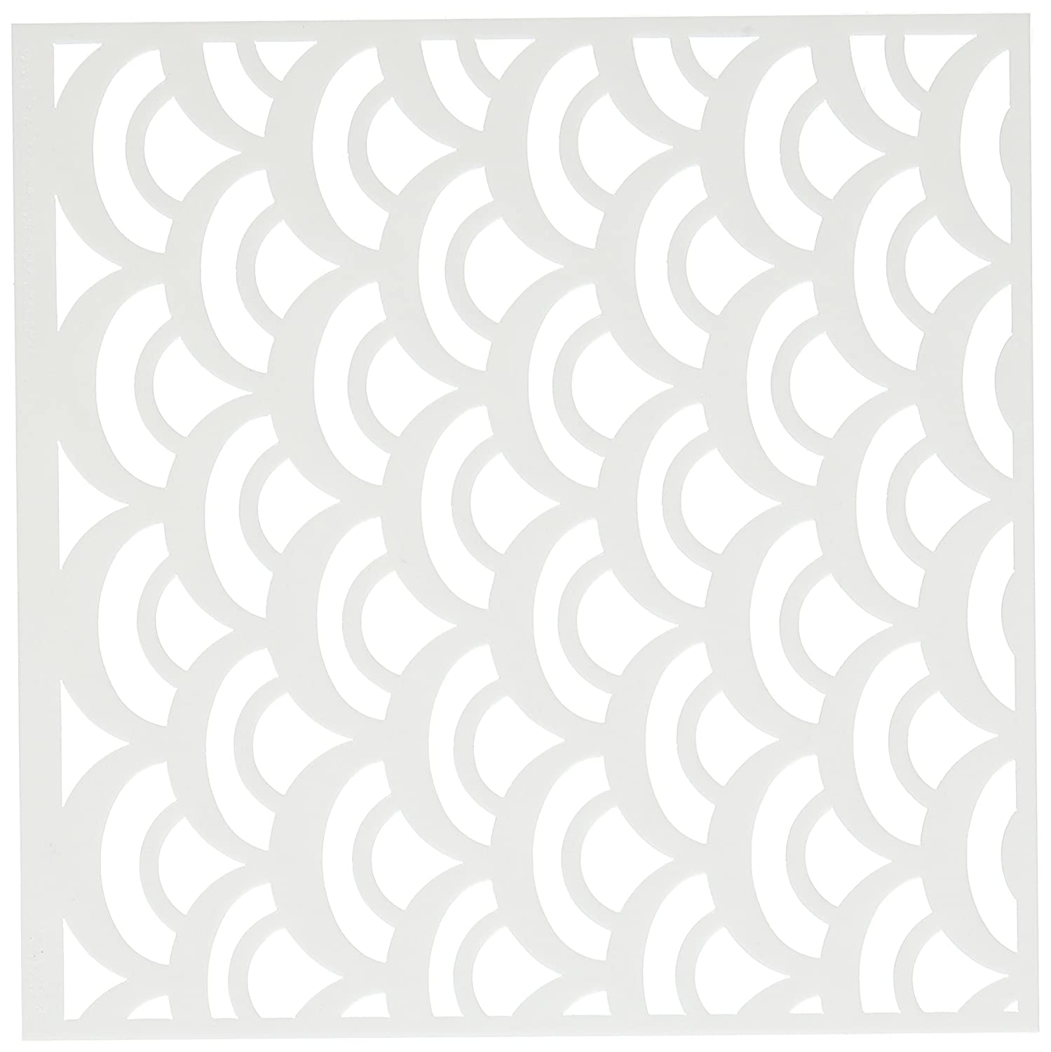 Crafters Workshop 1-Piece 6 x 6-inch Crafters Workshop Template Fish Scales
