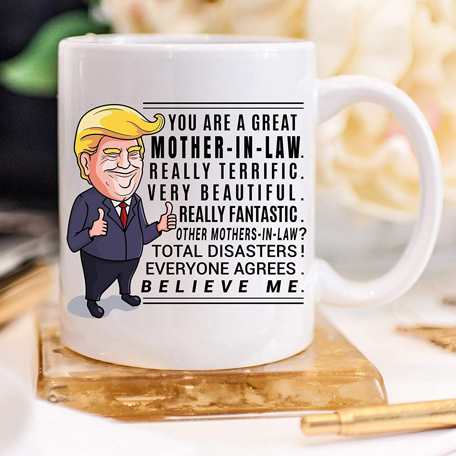 Amazon.com: Trump Mug Mother in Law Gift for Mother in Law Christmas ...