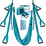 Yoga4You Aerial Yoga Swing Set - Yoga Hammock Swing - Trapeze Yoga Kit - 2 Extension Straps - Wide Flying Yoga Inversion Tool