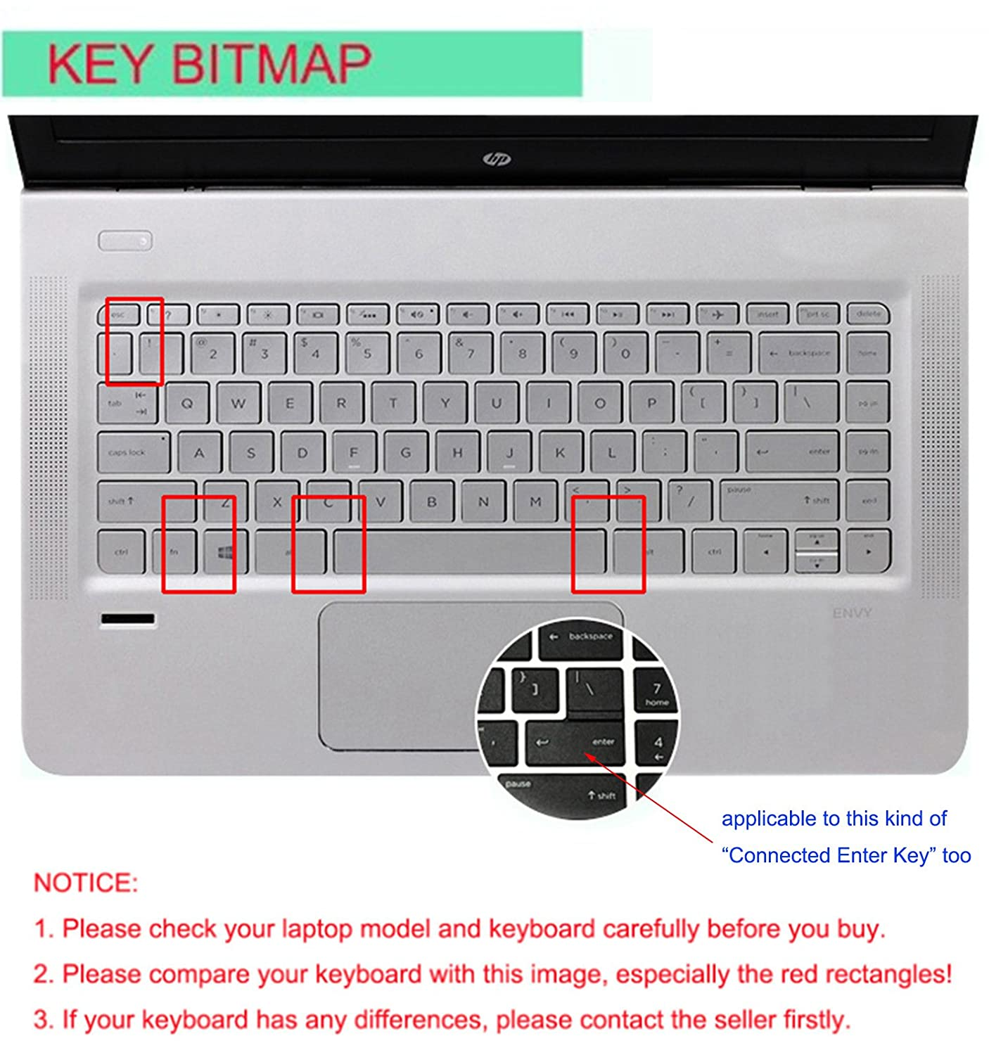 Amazon.com: Silicone Keyboard Cover Skin for 14 inch HP Pavilion 14-ab 14-ac 14-ad 14-an, HP Stream 14-ax, HP ENVY 14-j0 Series, 14-ab010 14-ab166us ...