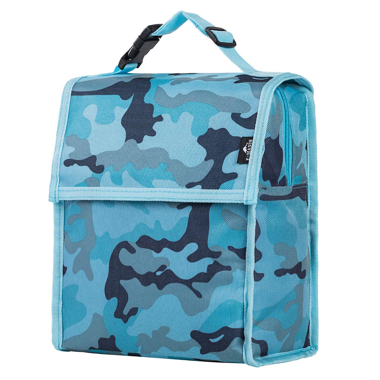 E-MANIS Sac Isotherme Sac Repas Sac À Déjeuner Lunch Bag Enfant Adulte pour Voyage/Pique-Nique/Camping/Sport/Barbecue (Bleu)