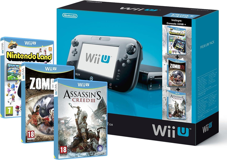 Premium Triple Pack 2: Nintendo Wii U - Consola 32 GB, , Color Negro: Amazon.es: Videojuegos