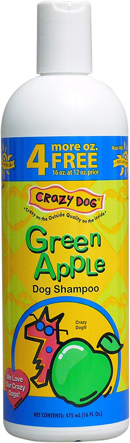 Crazy Dog Green Apple Shampoo for Dogs, 16-Ounce