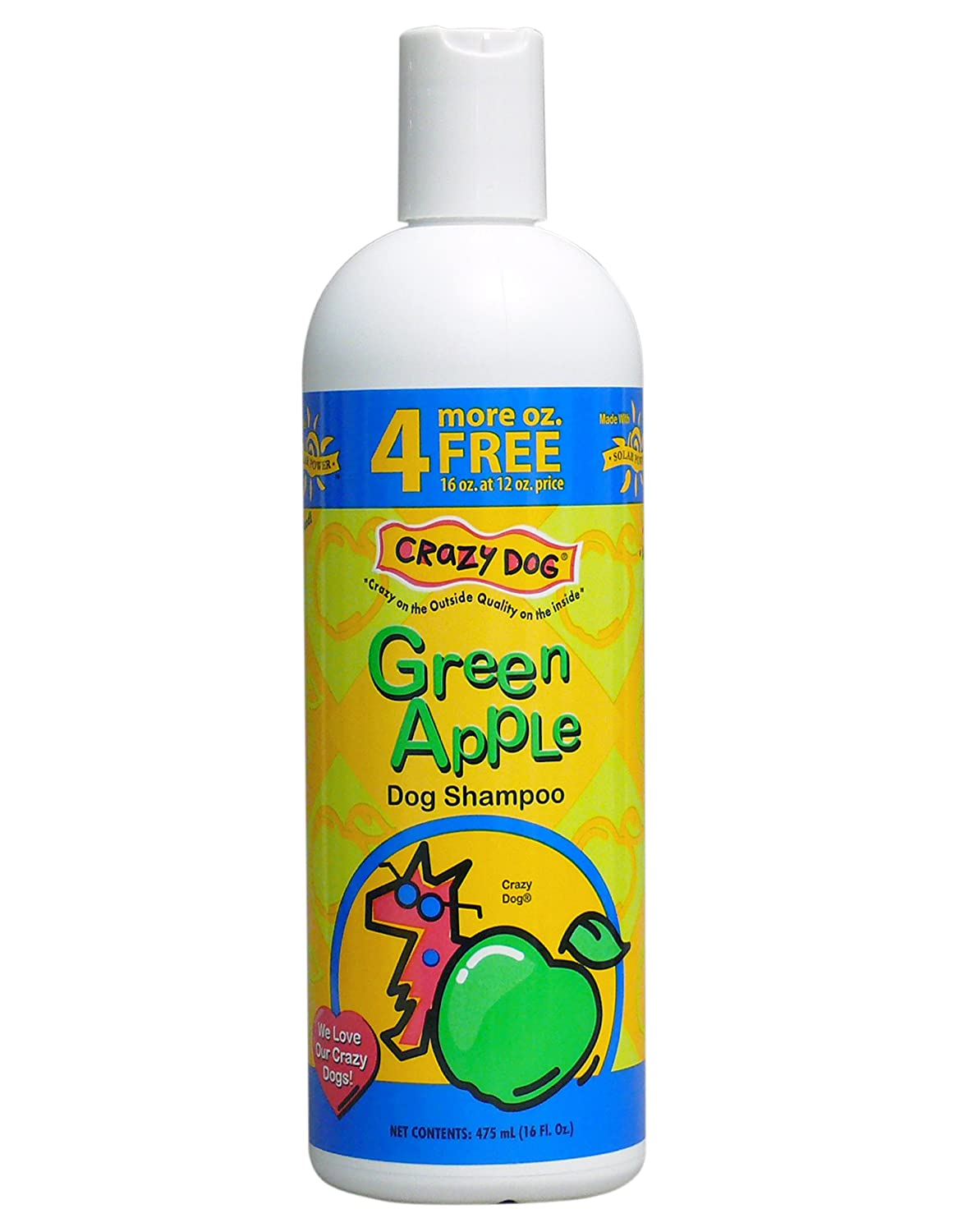 Crazy Dog Green Apple Shampoo for Dogs 16-Ounce