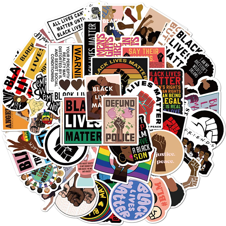 Waterproof Protest Decal Feminist Gift Equality Sticker Retro Heart Vinyl Sticker Black Lives Matter Sticker BLM Sticker