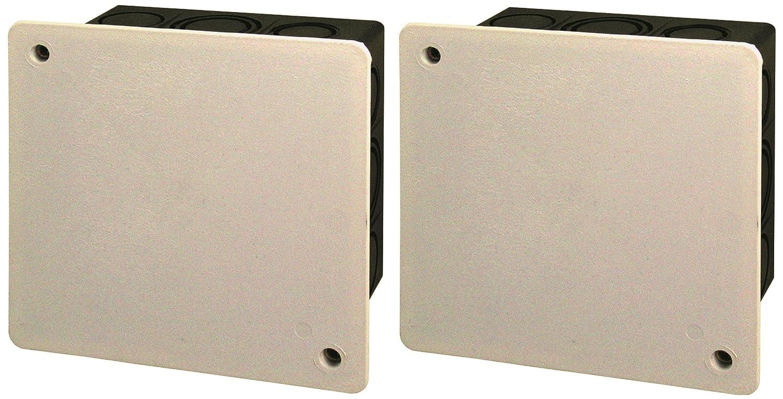 Blass Elektro Iso-Abzweigkasten Unterputz, 2 Stü ck, 100 x 100 mm, schwarz/weiß , 22222