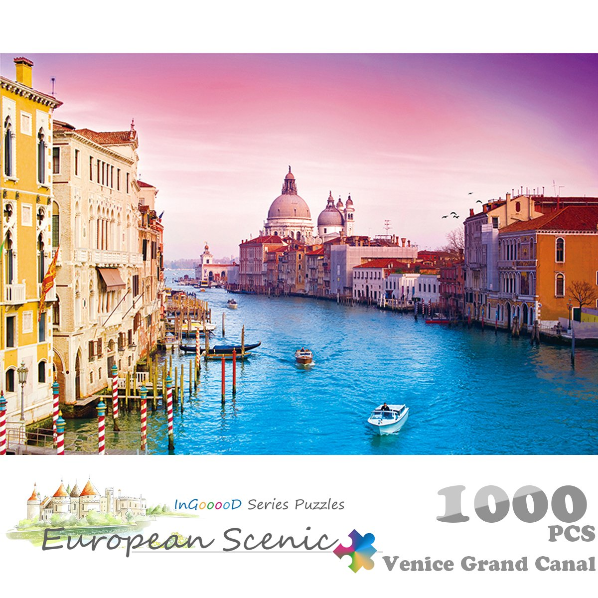 Ingooood Jigsaw puzzle European Cities Series Venice  1000 Pieces for Adult