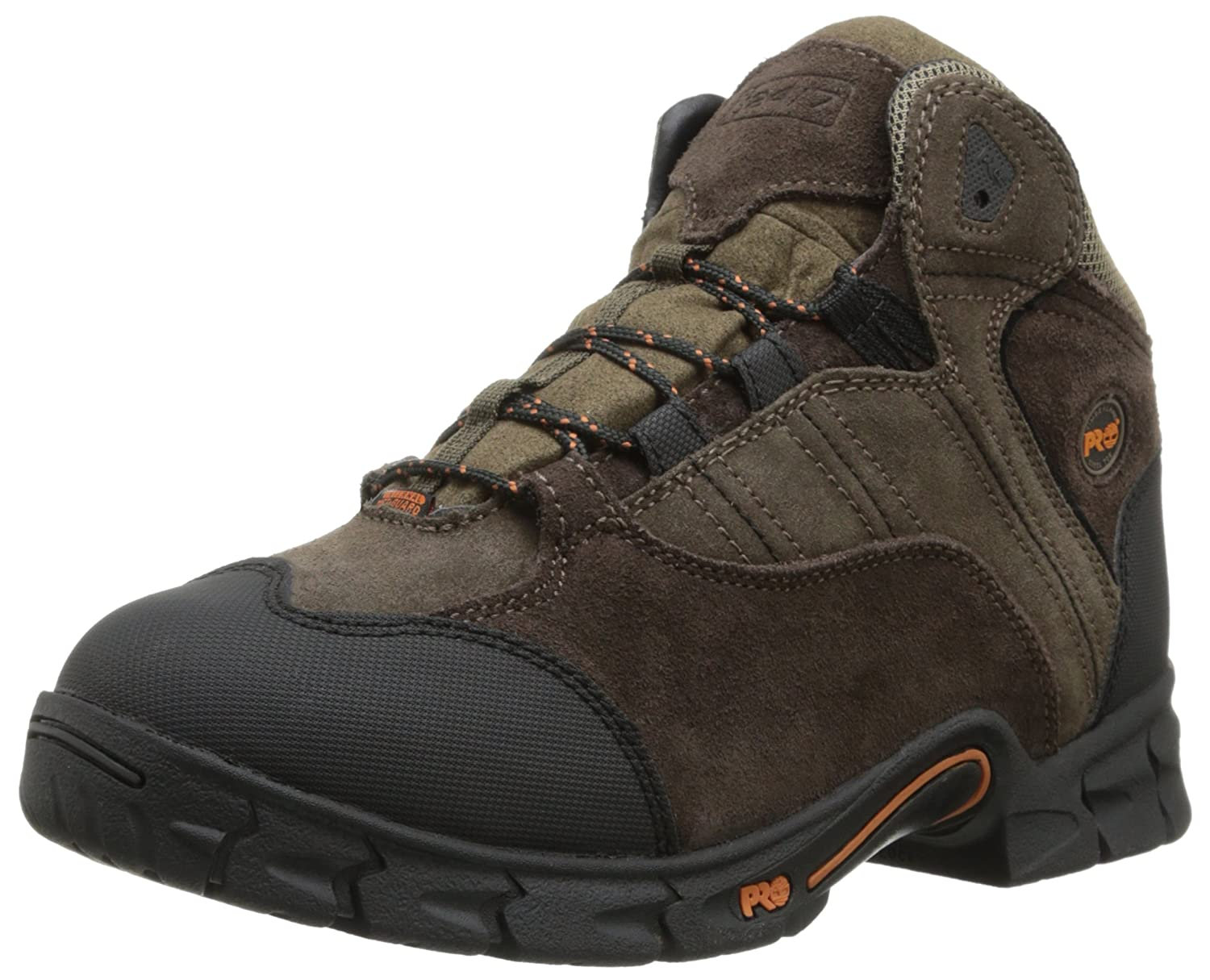 Timberland Pro Mens Excave Internal Met Guard Work Cut Engineer Shoes Safety Boots Iron Suede Leather Soft Brown Boot Industrial Construction