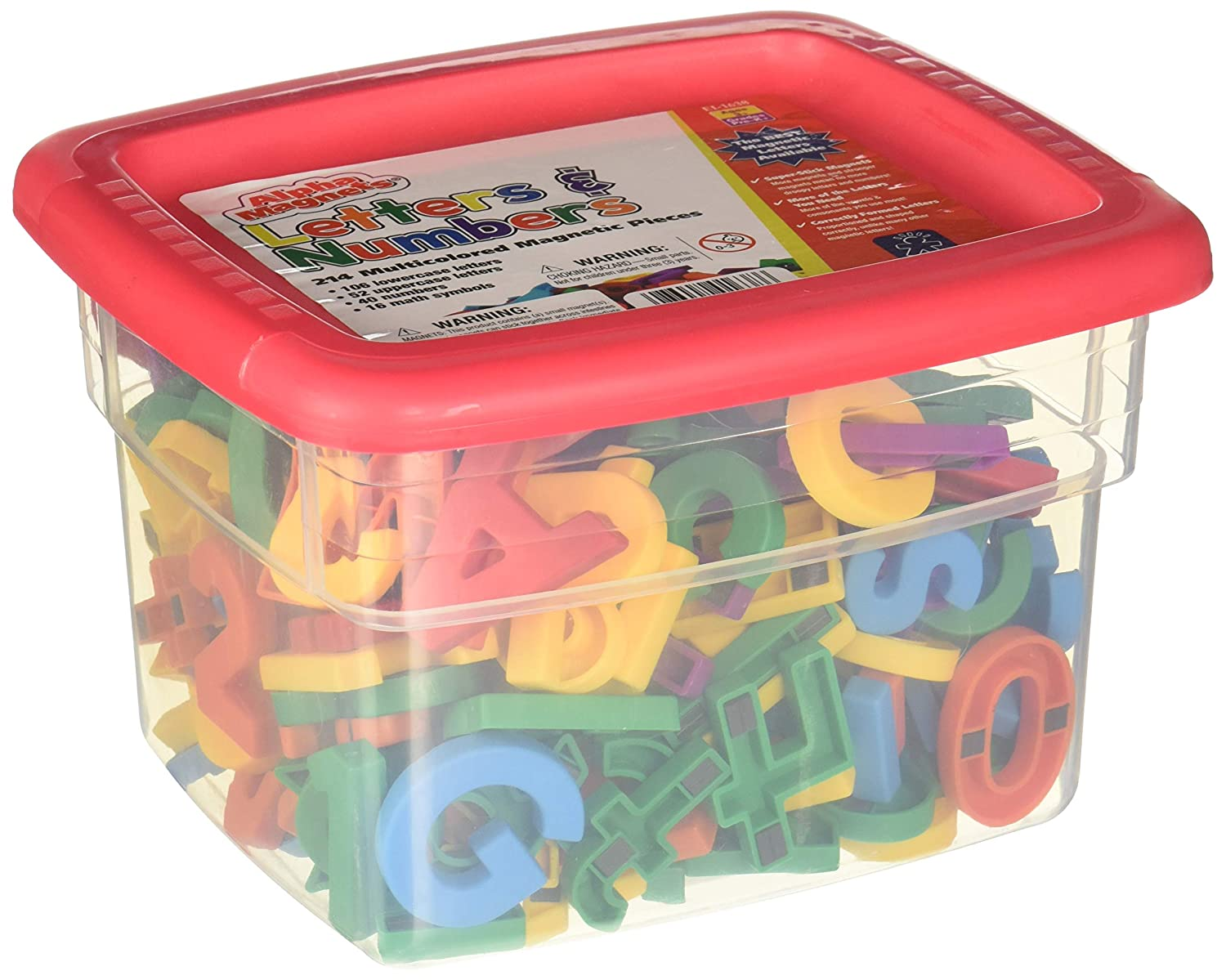 LEARNING RESOURCES Alpha and Math Magnets Multi 214PK