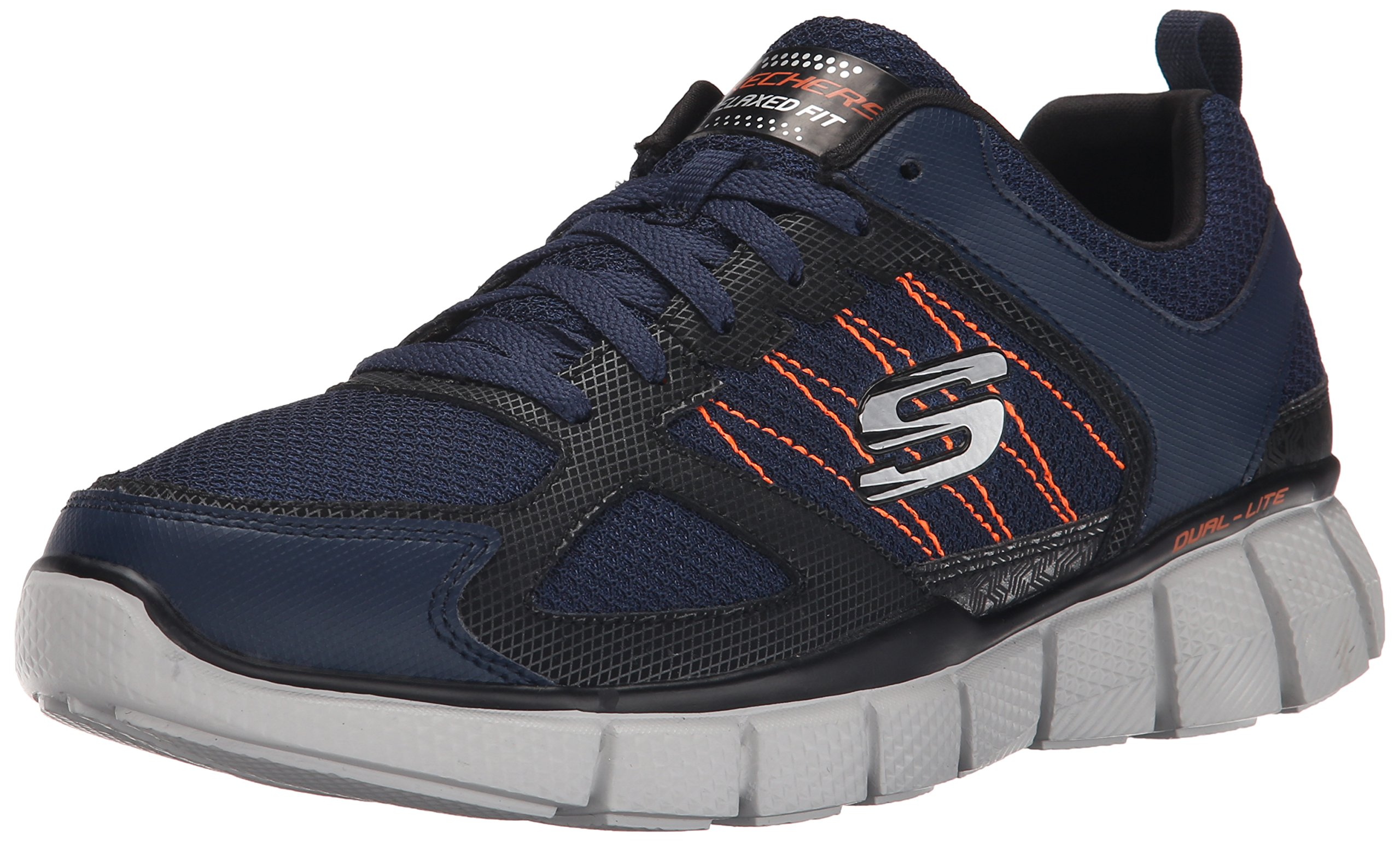 Skechers Sport Men's Equalizer 2.0 True Balance Sneaker,Navy/Orange,11 M US by Skechers