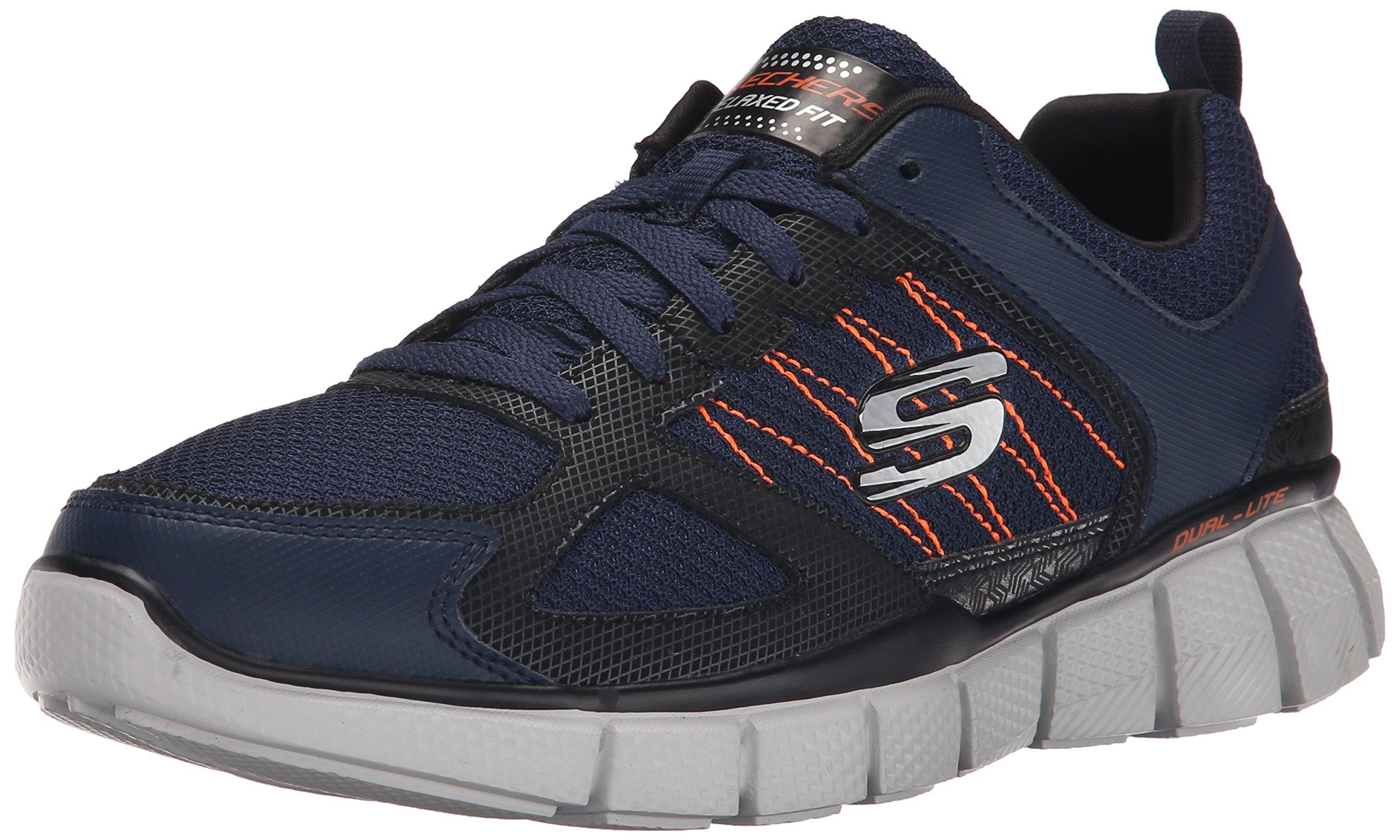 Skechers Sport Men's Equalizer 2.0 True Balance Sneaker,Navy/Orange,7 M US