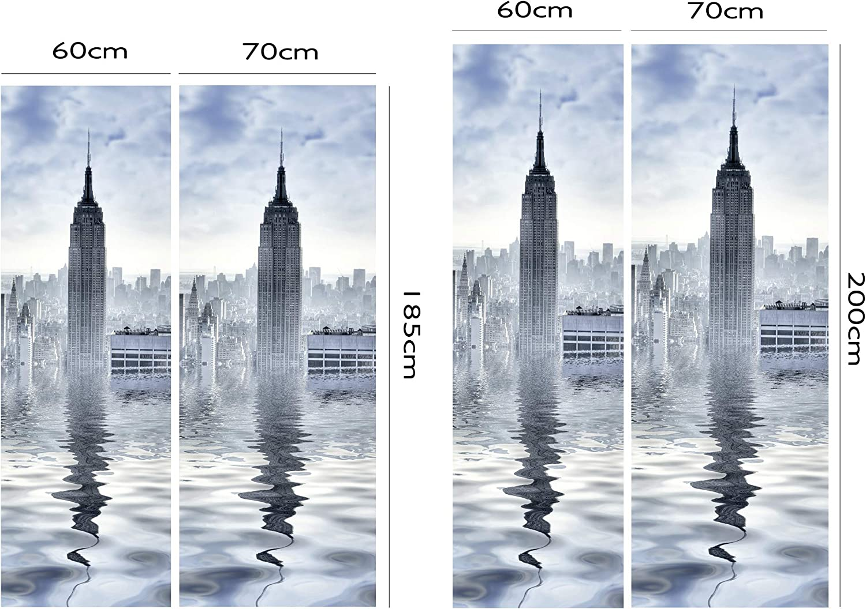 Diverse Misure 185 x 60 cm Adesivo Resistente e di Facile Applicazione Oedim Adesivi in Vinile per Frigorifero Torre York Adesivo Decorativo dal Design Elegante