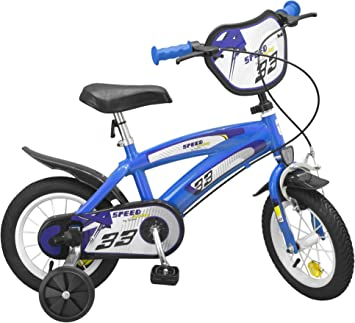 Bicicleta Infantil Speed TX Azul 12 Pulgadas con ruedines: Amazon ...