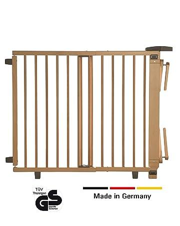 Geuther - Schwenk- Treppenschutzgitter 2733+, für Kinder, Hunde und Katzen, Made in Germany, Befestigung mit Schrauben/Klemme