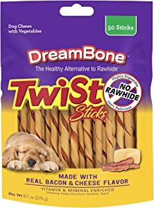 Dreambone Dbtt-02847 Bacon & Cheese Twist Sticks For Dogs ( 50 Count), One Size