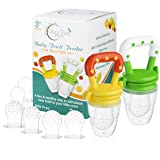 Baby Fruit Feeder Pacifier (2 Pack), Fresh Food Feeding Teether for Toddler, BPA Free, Soothing Gum Relief, Infant…