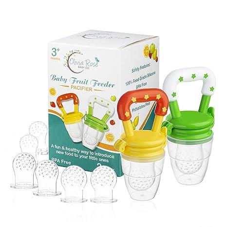Amazon.com: Chupete alimentador de frutas para bebés (2 ...