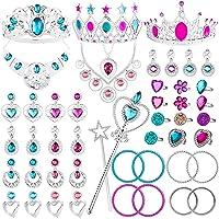 WATINC 48Pack Princess Pretend Jewelry Toy,Girl's Jewelry Dress Up Play Set,Included...