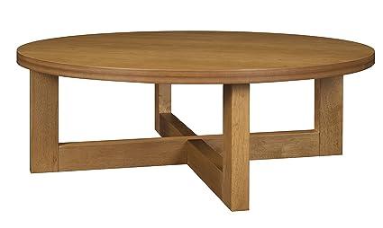 Charmant Regency Chloe 37 Inch Round Coffee Table  Medium Oak