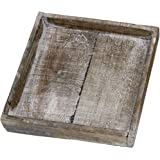 Holzteller Holztablett Tablett Wooden tray natural 20x20x4cm