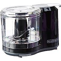 Black+Decker Picador de alimentos de un toque, color negro, modelo HC150B