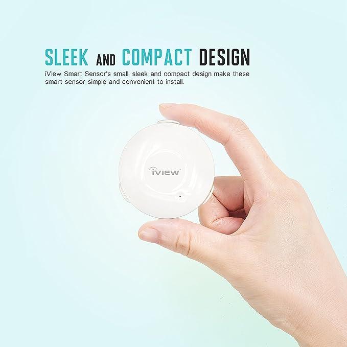 Sensor de Agua iview S300 Wifi bricolaje inundación y sensor del detector de fugas desmontable, de sonido y de las aplicaciones Alerta larga duración de la ...