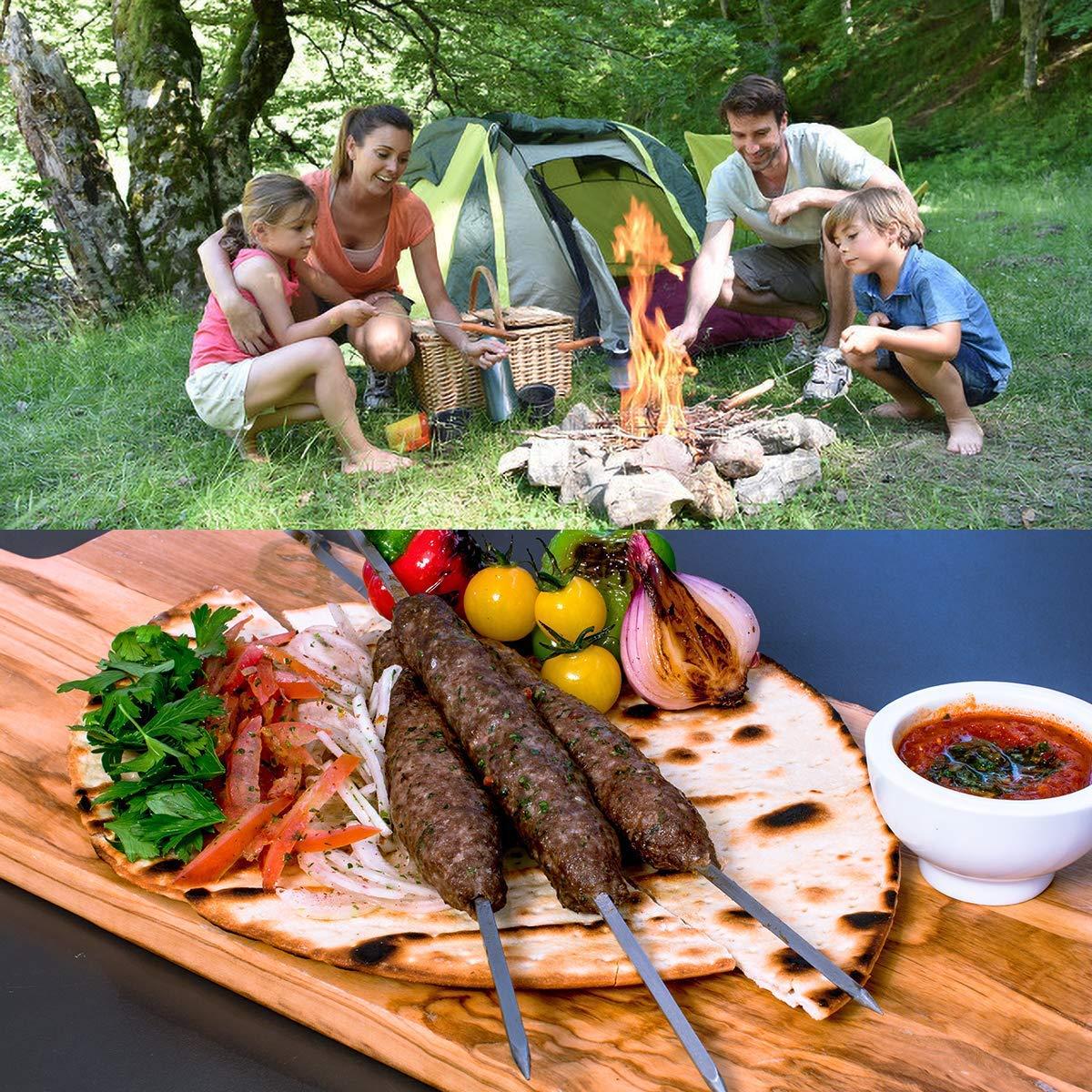 BUDDYGO Grillbesteck Koffer Professionelle Outdoor Camping Grill-Werkzeuge Zubeh/ör-Set Edelstahl Grillbesteck-Set 20-teilig im Koffer Premium Komplett Outdoor Barbecue Utensil Geschenke-Set