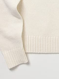 5 Gauge Wool Crewneck Sweater 11-15-0683-103: White