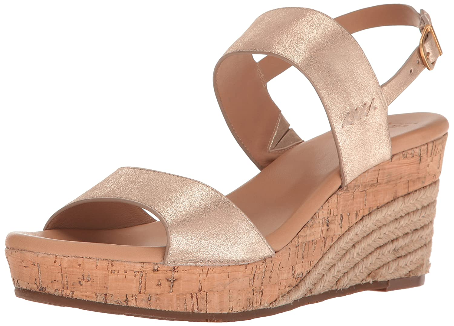 f1e1ca3d1b5 UGG Women's Elena Metallic Wedge Sandal