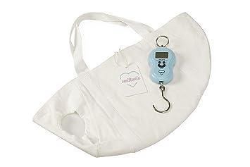 Balanza para bebés de Emiltonia: básculas para recién nacidos y bebés. Pese como la comadrona (Blanco, primer juego): Amazon.es: Bebé