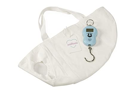 Balanza para bebés de Emiltonia: básculas para recién nacidos y bebés. Pese como la
