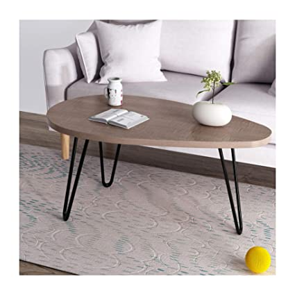 Cherry Tree Furniture Ctf Stella Walnut Oval Coffee Table Side Table End Table With Curved Metal Legs