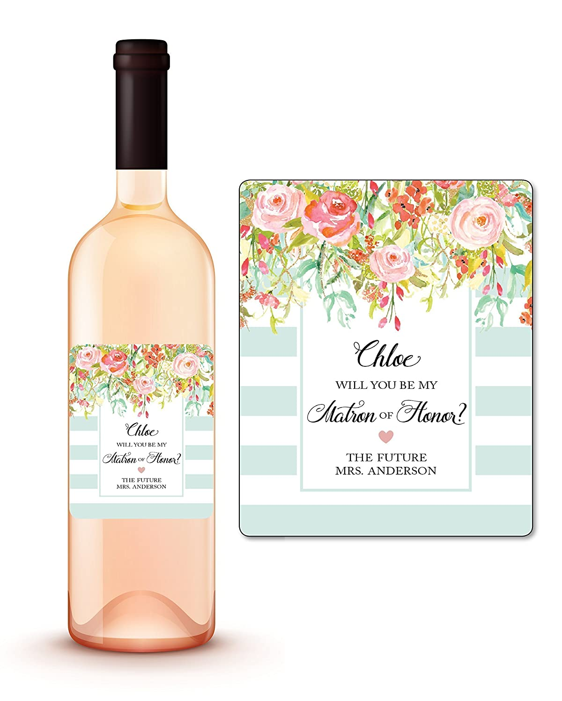 Amazon Custom Will You Be My Matron Of Honor Wine Label Will