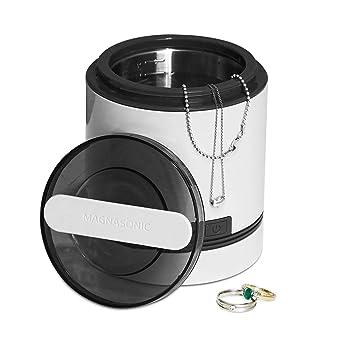 Magnasonic Ultrasonic Dental & Jewelry Cleaner Machine, Compact 7 oz  (220  ml) Tank, Professional Strength Cleaning of Dentures, Retainers, Razors,