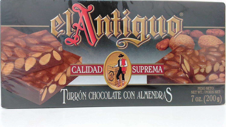 Amazon.com : El Antiguo Calidad Suprema Turron Chocolate Con Almendras - Chocolate Almond Nougat : Grocery & Gourmet Food