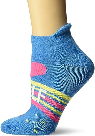 c925fcbc74d9d K. Bell Women's Novelty Fashion Athletic No Show Socks, blue (golf Love)