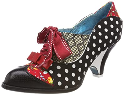 Poetic Licence by Irregular Choice Force of Beauty, Brogues Femme, Noir (Black/Red Z), 40 EU