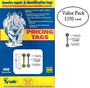 Paquete de 2000 etiquetas de repuesto para joyas, etiquetas de precio e indentificación, tivek