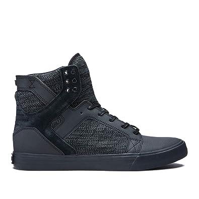 online retailer cacf1 df375 Supra Footwear - Skytop High Top Skate Shoes, Black Dark Grey-Black,