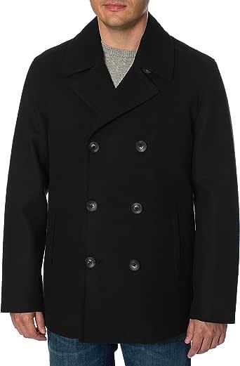 Nautica Men's Double Breasted Wool Peacoat, Black, S