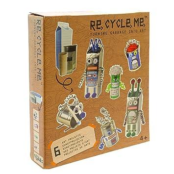 Imaginarium Re Cycle Me Robot World - Kit con materiales reciclados para crear robots, unisex: Amazon.es: Bebé