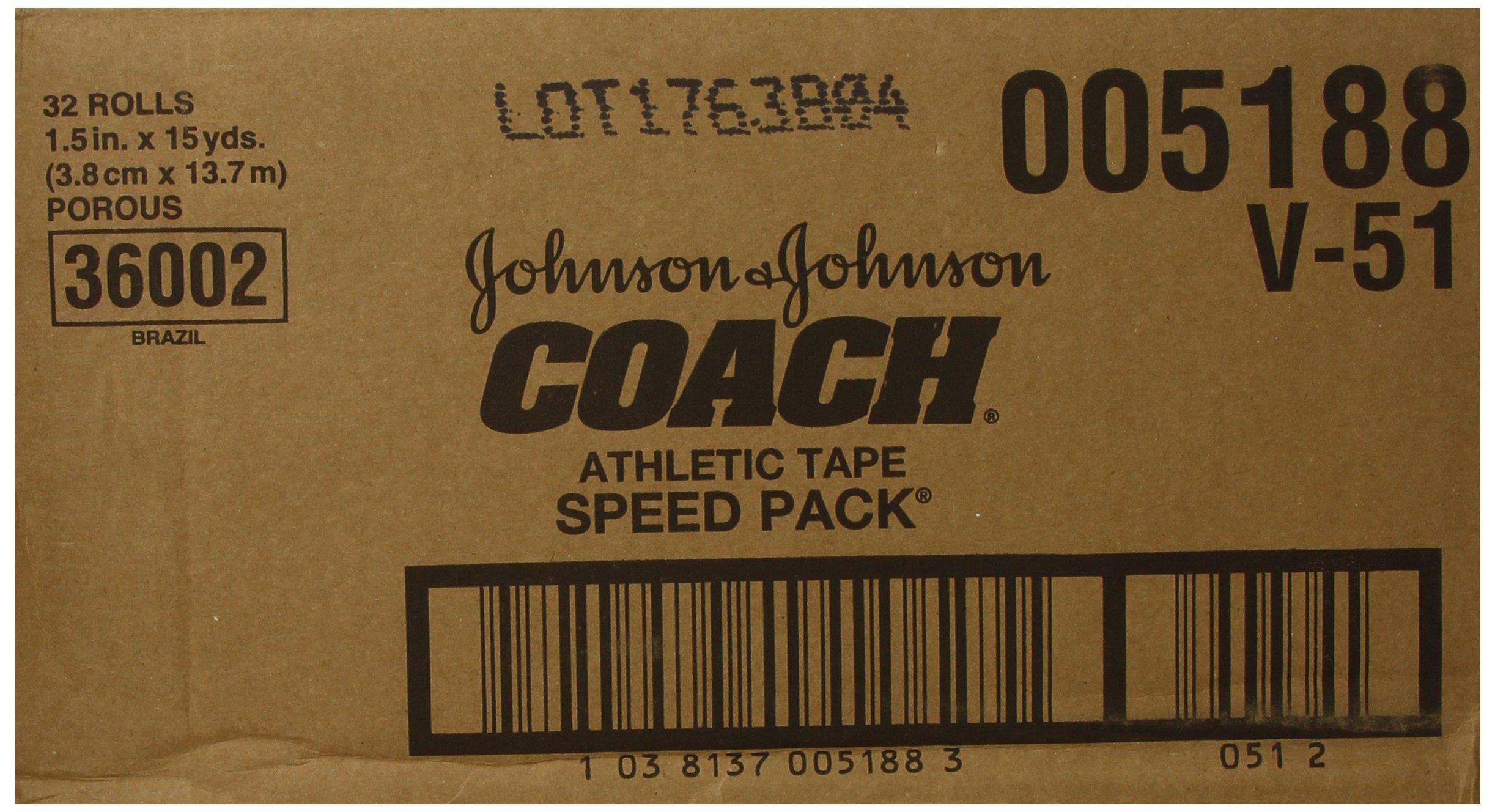 Johnson & Johnson Consumer Coach Porous Athletic Tape, 32 Count
