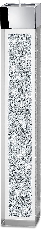 Implexions by connexion Moderno pilón portavelas de té Grande con Cristales de Swarovski Elements/Decoración Especial de Mesa