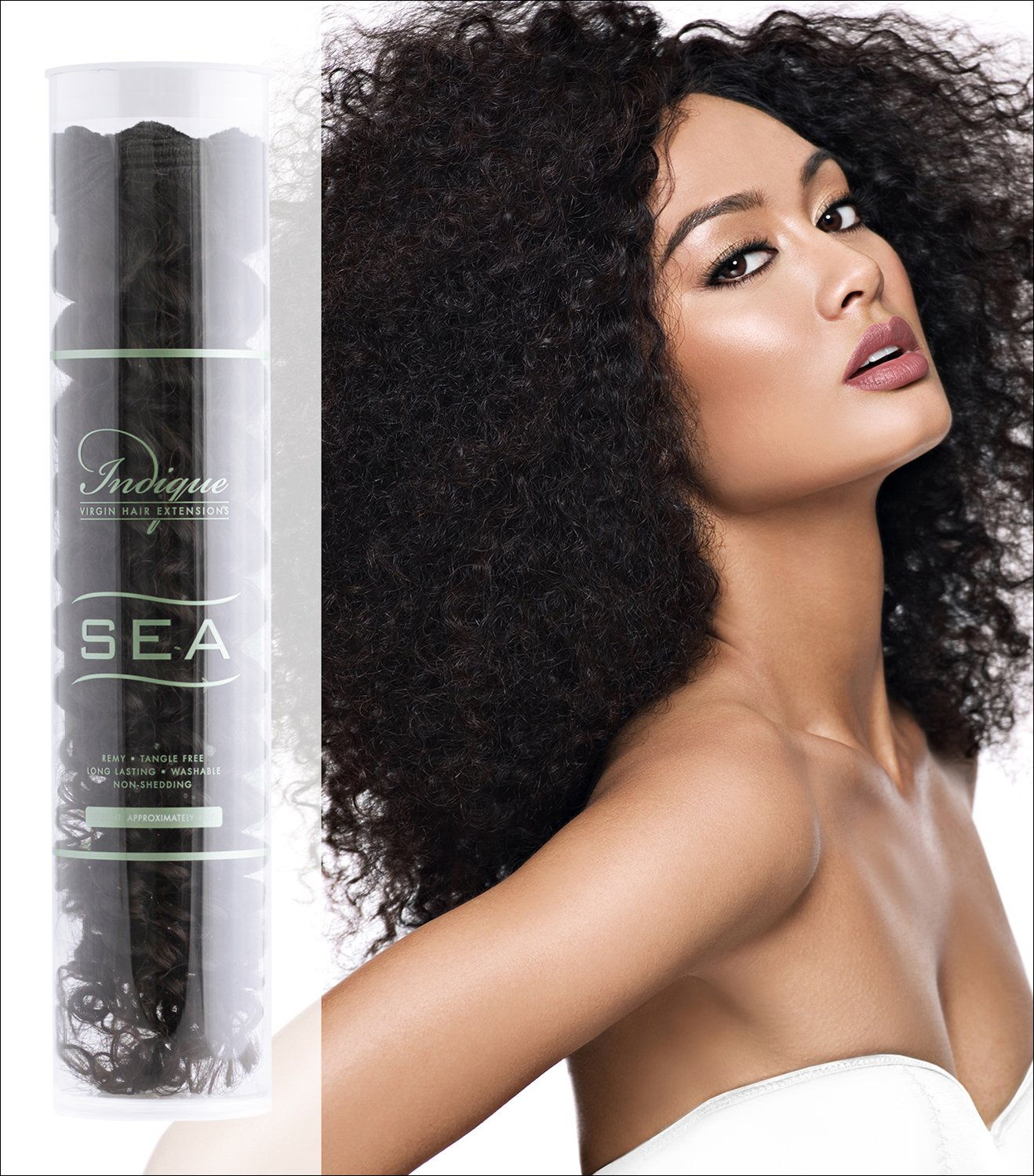 Amazon Indique Virgin Hair Extensions Sea Fiji Curl 12 Inch