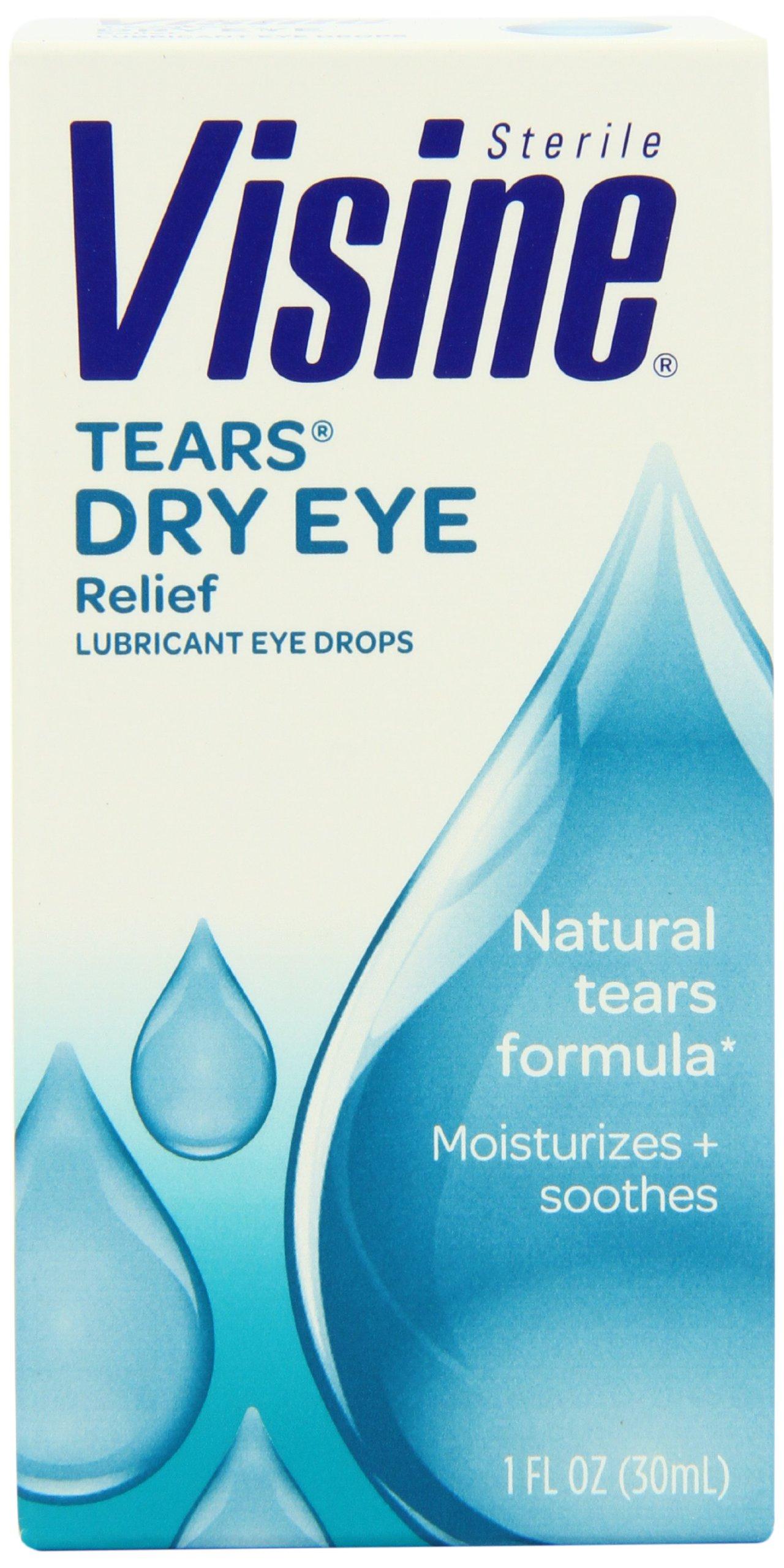 Visine Tears Natural Tears Formula Lubricant Eye Drops, 1 Fluid Ounce