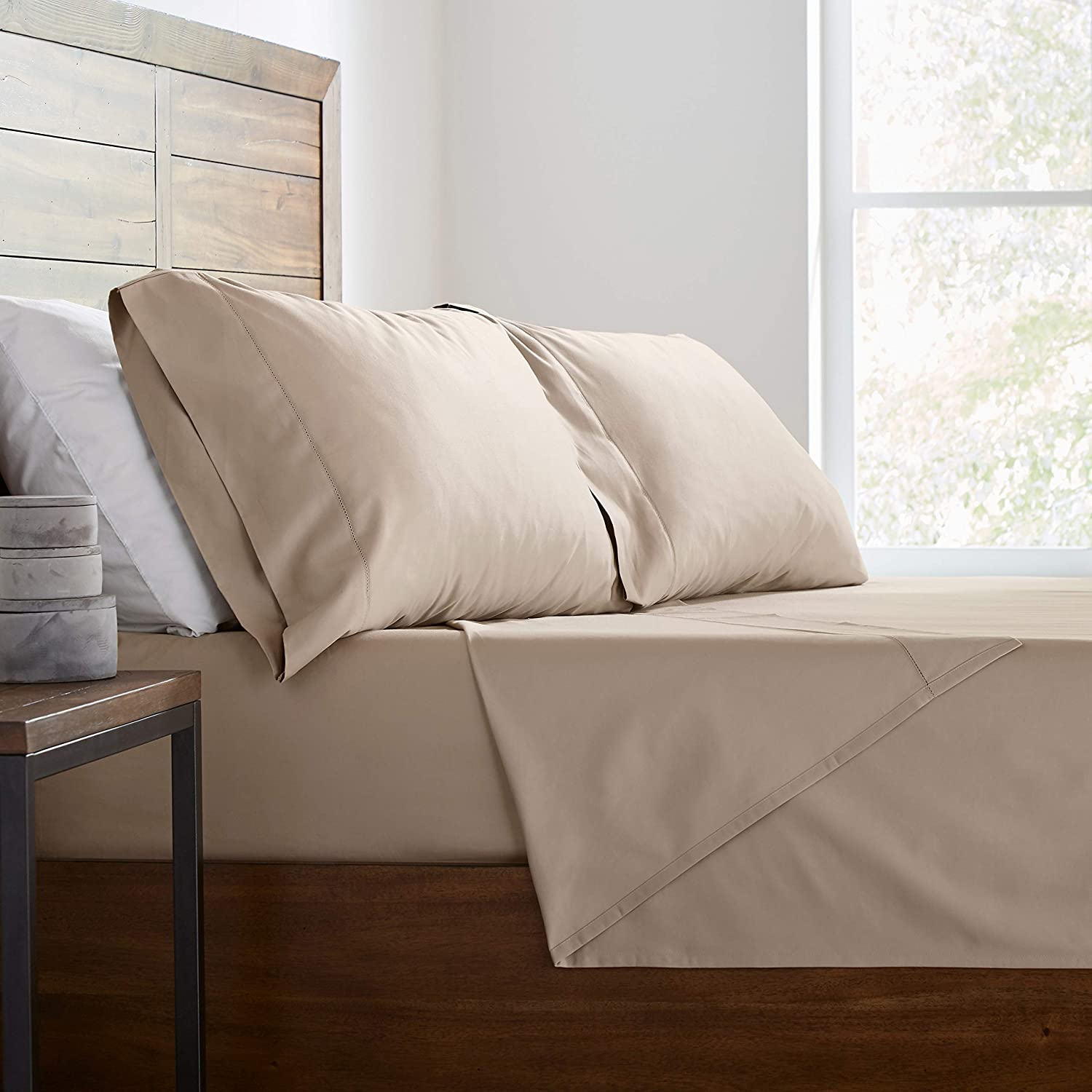 Soft and Easy Care Cloud 2DGJH 2DGJH42 King Stone /& Beam 100/% Supima Cotton Pillowcase Set