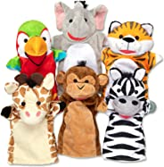 Melissa & Doug Safari Buddies Hand Puppets Puppet Set (6 Hand Puppets) Great Gift for Girls and Boys - Best for 2, 3, 4, 5 a