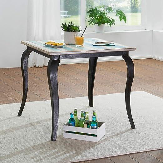 Ks Furniture Esstisch Lina Massivholz Shabby Chic 80x77x80 Cm Esszimmertisch Modern Design Kuchentisch Massiv Klein Massivholztisch Esszimmer Vintage Tisch Naturholz Quadratisch Amazon De Kuche Haushalt