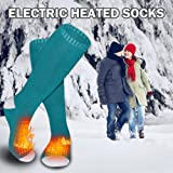 QILOVE Men Women Battery Heated Socks for