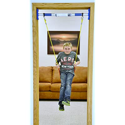 RAINY DAY Swing Set Kids Therapy | Doorway Swing Kit | Indoor Playroom Swing Starter Kit (Support bar is Included): Toys & Games